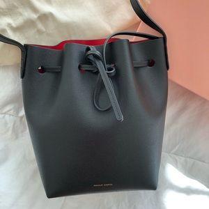 Mansur Gavriel Saffiano Mini Bucket Bag (NEW)